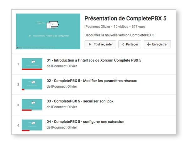 Vidéo d'introduction à l'interface Xorcom Complete PBX 5